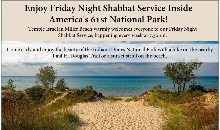 Enjoy Friday Night Shabbat Service Inside America's 61st National Park!