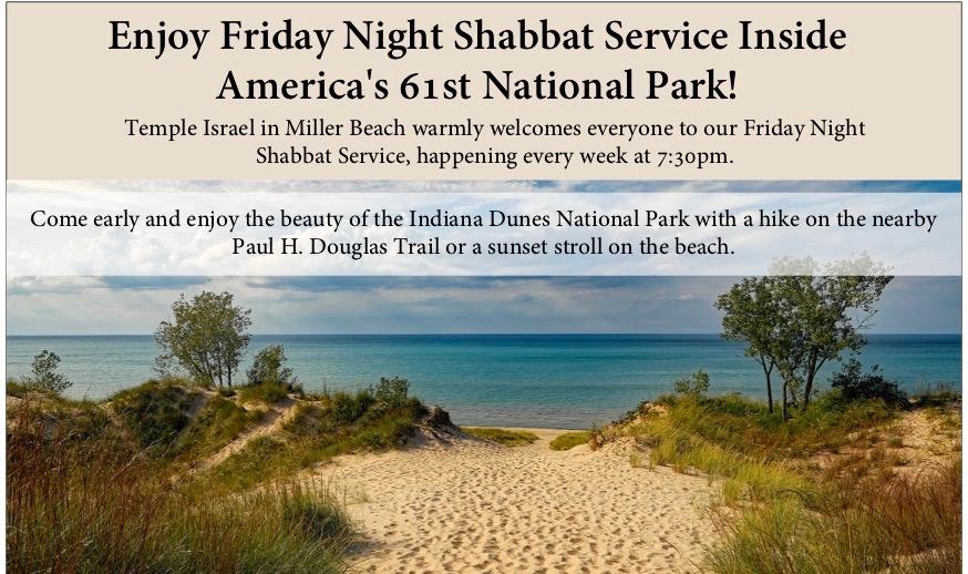 Enjoy Friday Night Shabbat Service Inside America's 61st National Park!
