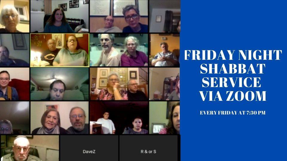 Friday Night Shabbat Service via Zoom